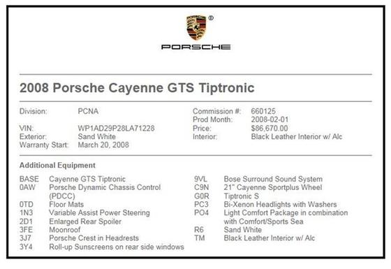 2008 Porsche Cayenne GTS:24 car images available