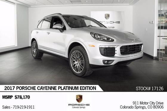 2017 Porsche Cayenne Platinum Edition:18 car images available