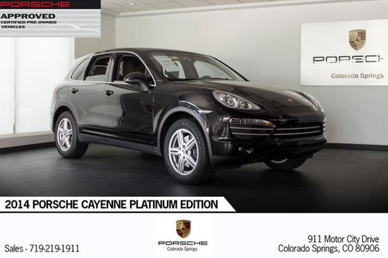 2014 Porsche Cayenne Platinum Edition:23 car images available
