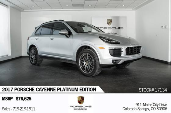 2017 Porsche Cayenne Platinum Edition:14 car images available