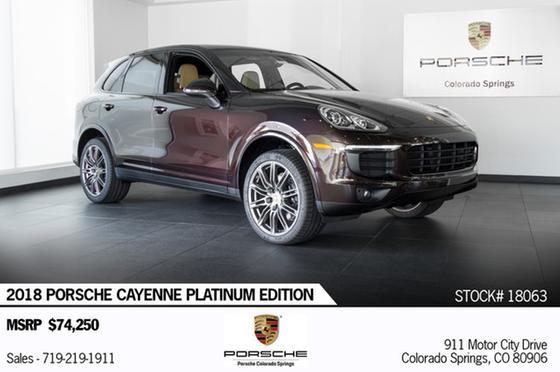 2018 Porsche Cayenne Platinum Edition:23 car images available