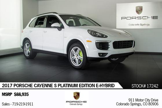 2017 Porsche Cayenne S E-Hybrid:23 car images available
