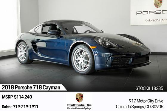 2018 Porsche Cayman 718:22 car images available
