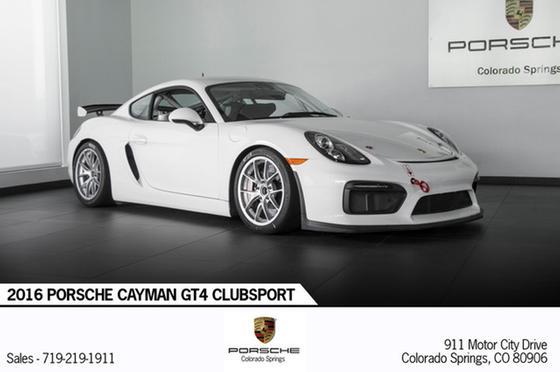 2016 Porsche Cayman GT4 Clubsport:24 car images available