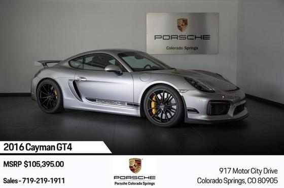 2016 Porsche Cayman GT4:15 car images available