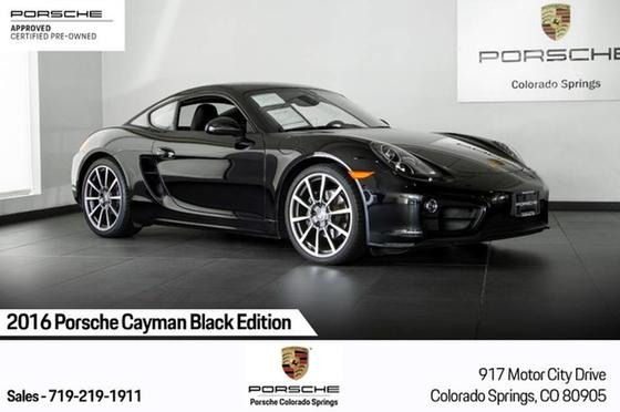 2016 Porsche Cayman S Black Edition:24 car images available