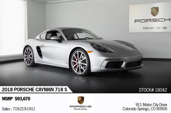 2018 Porsche Cayman S:24 car images available