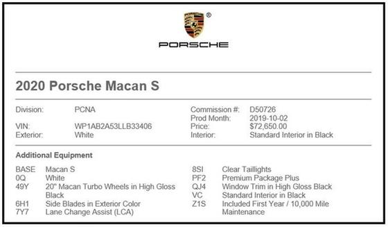 2020 Porsche Macan S : Car has generic photo