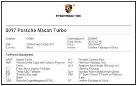 2017 Porsche Macan Turbo : Car has generic photo
