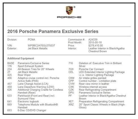 2016 Porsche Panamera  : Car has generic photo