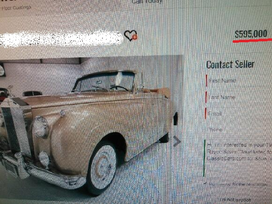 1957 Rolls Royce Silver Cloud Drophead