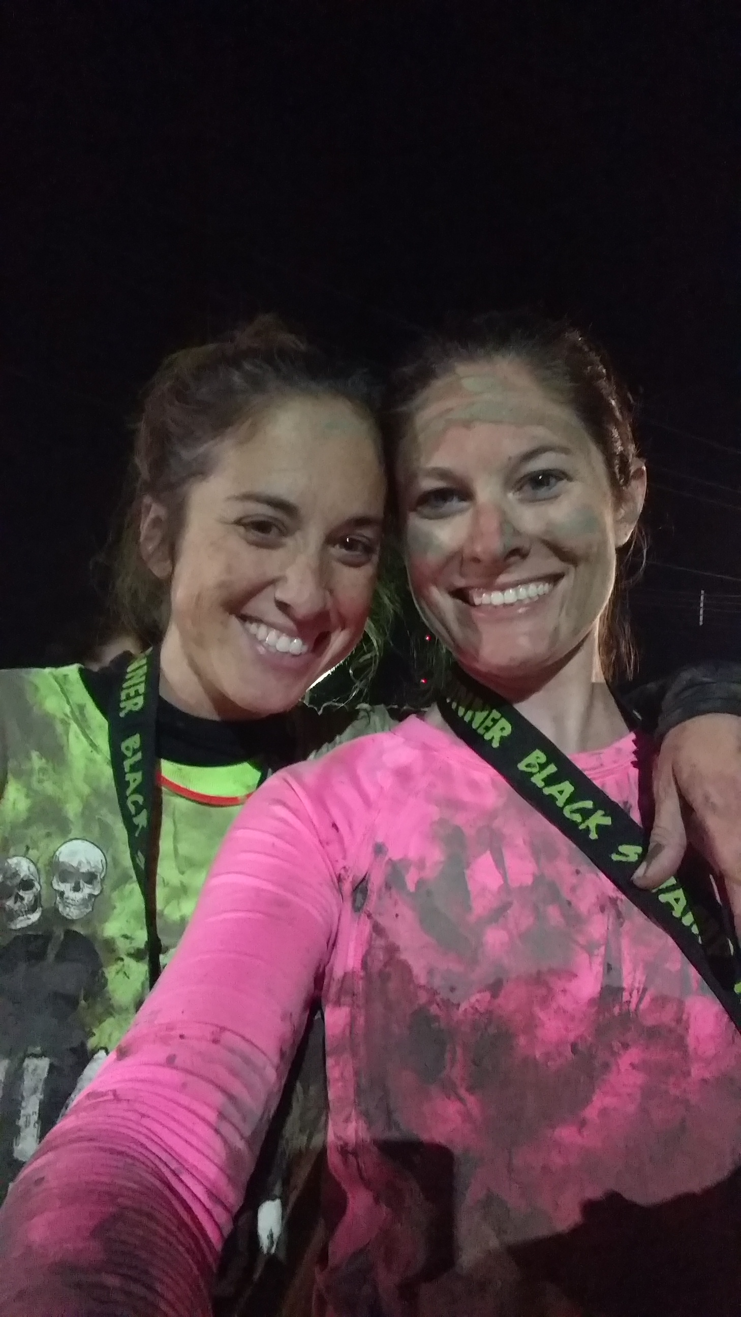 @starbee @rocketear99 Here's before, after, and medal pics! The two are Jennifer and Lauren. J