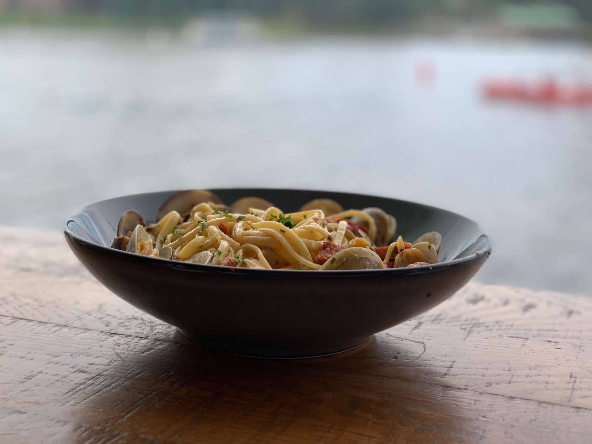 Linguine and Clams from Paddlefish