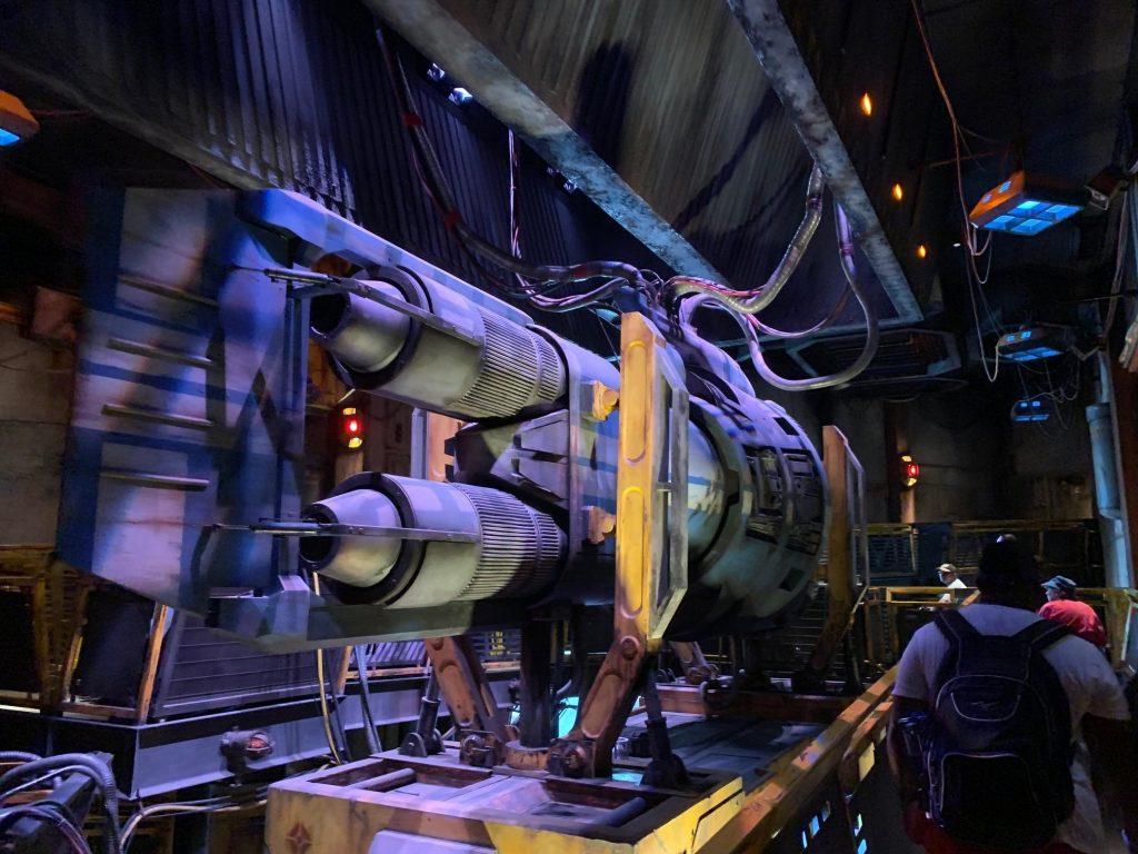 Inside the Millennium Falcon queue