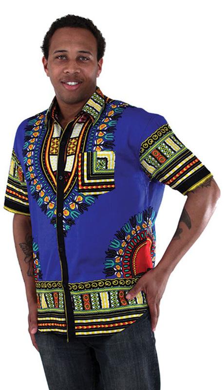 African Clothing C-M077-BLU
