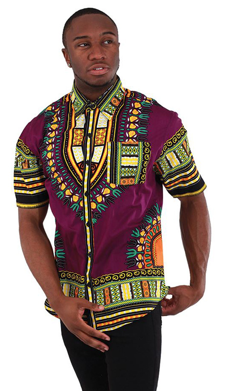 African Clothing C-M077-PUR