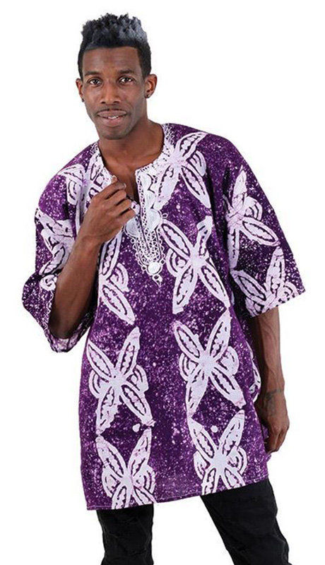 African Clothing C-M082-PUR