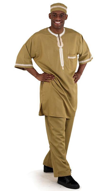 African Clothing C-M083-TAN