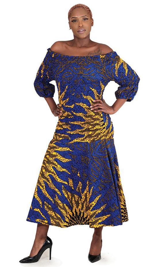 African Clothing C-W115-BLU