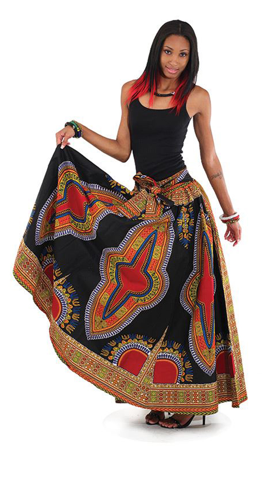 African Clothing C-WF906-BLK