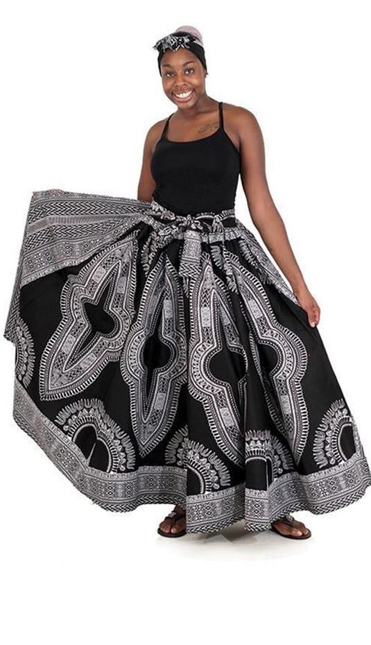 African Clothing C-WF906-BW