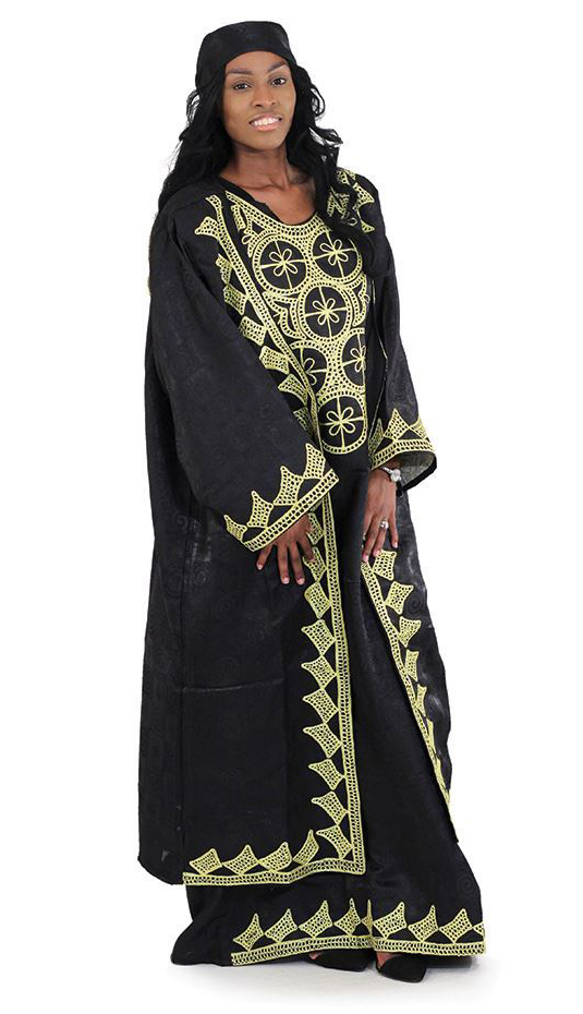 African Clothing C-WH361-BLK