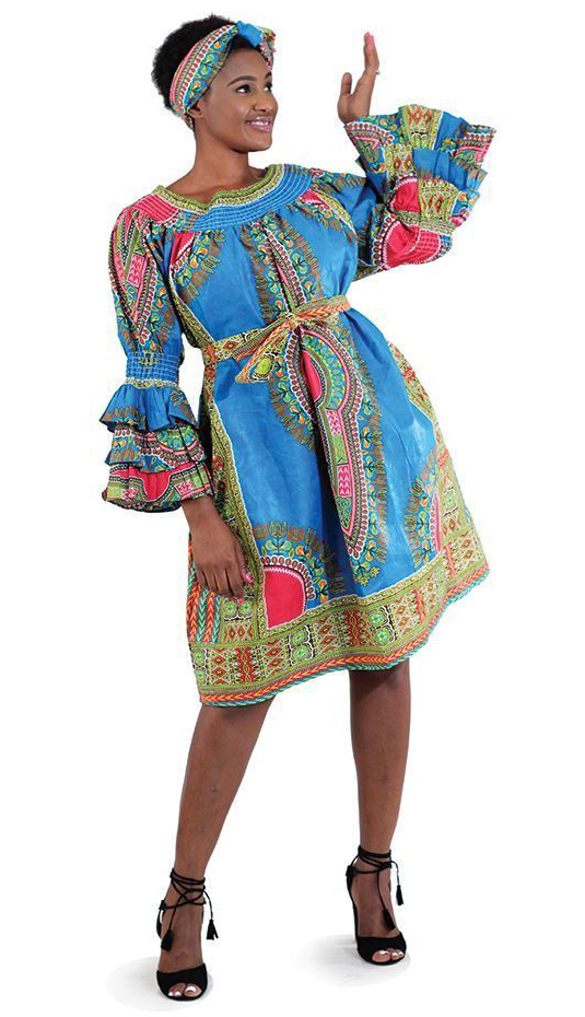 African Clothing C-WH363-LBLU