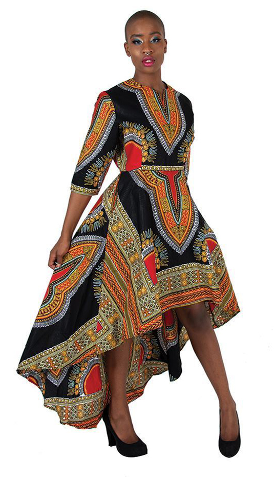 African Clothing C-WK023-BLK-CO