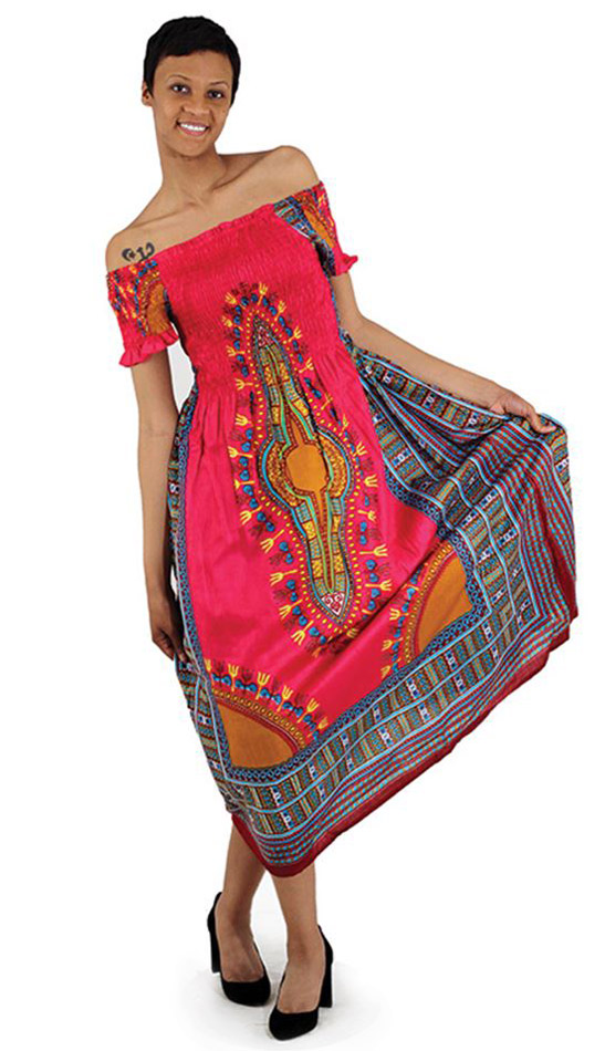 African Dress C-WF908-PK