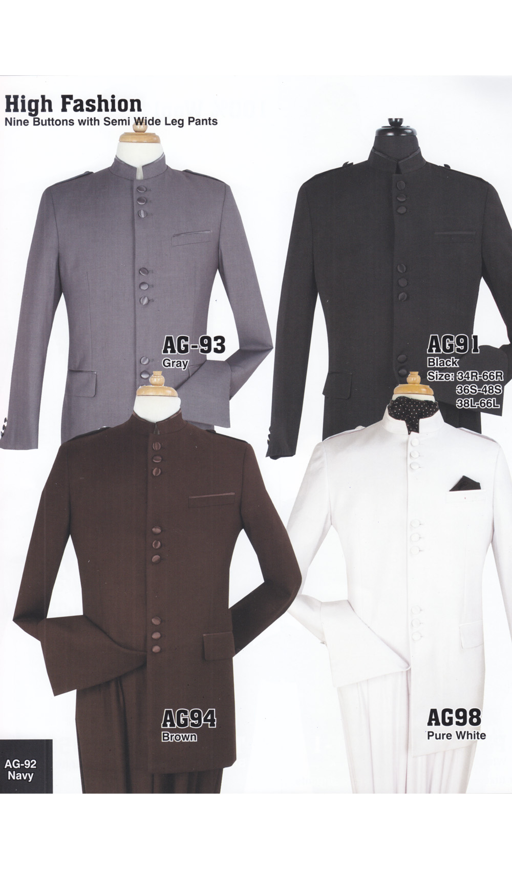 High Fashion Men Suits AG98