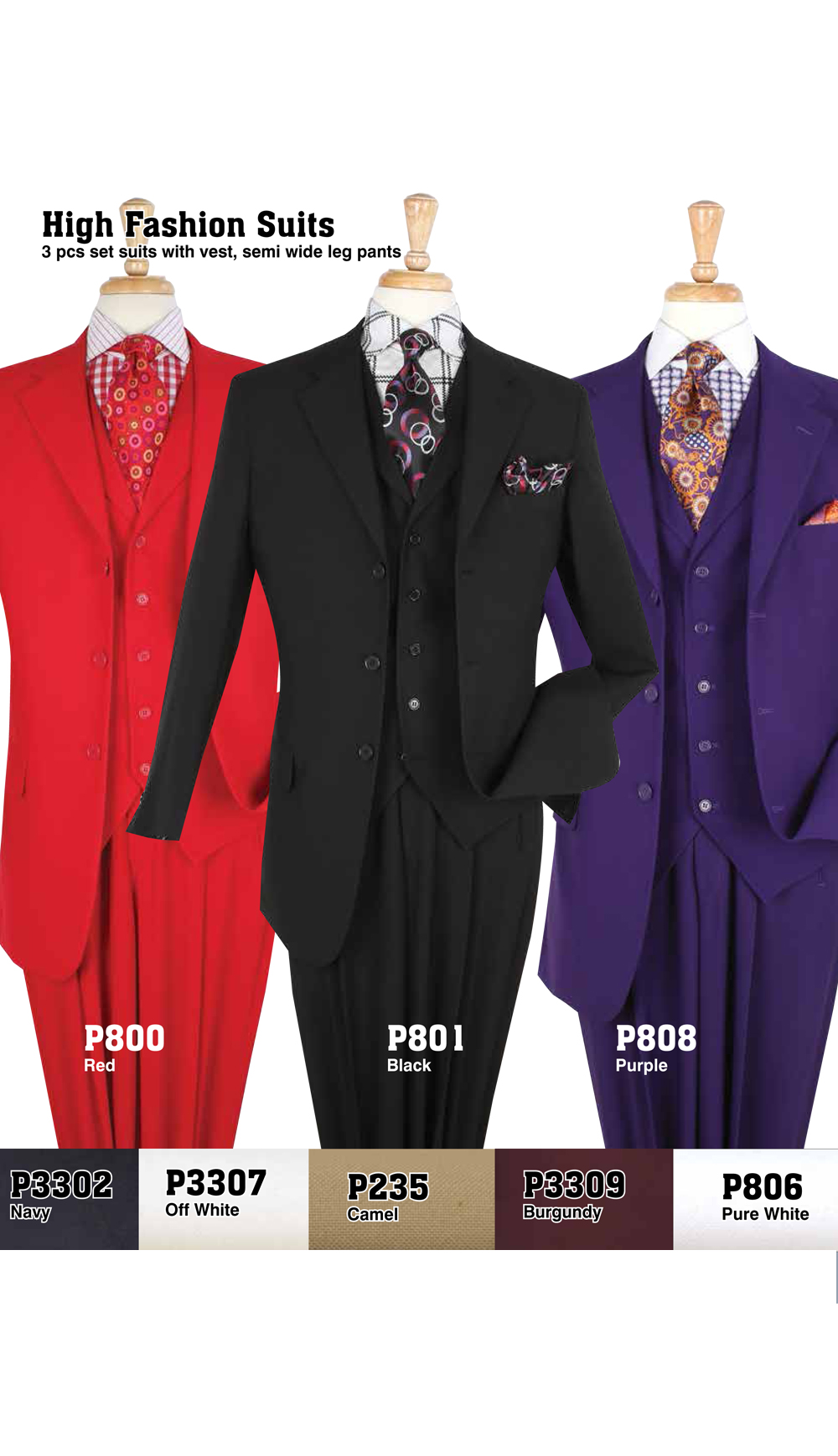 High Fashion Men Suits P800