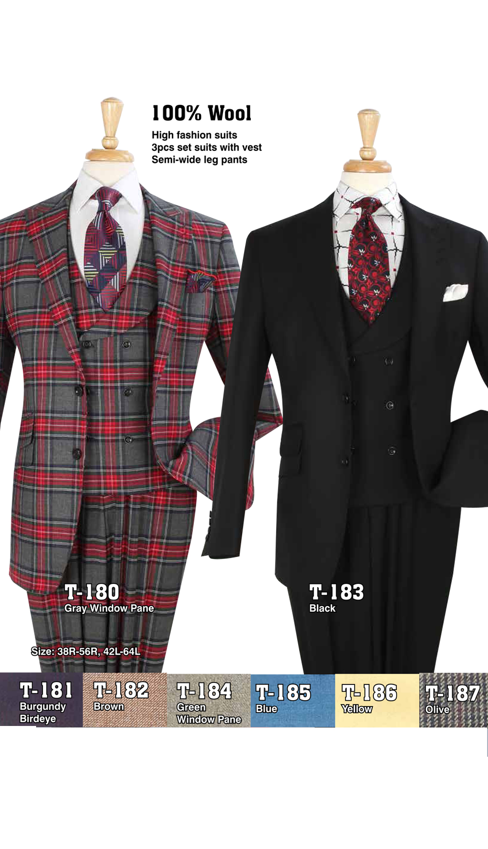 High Fashion Men Suits T-180