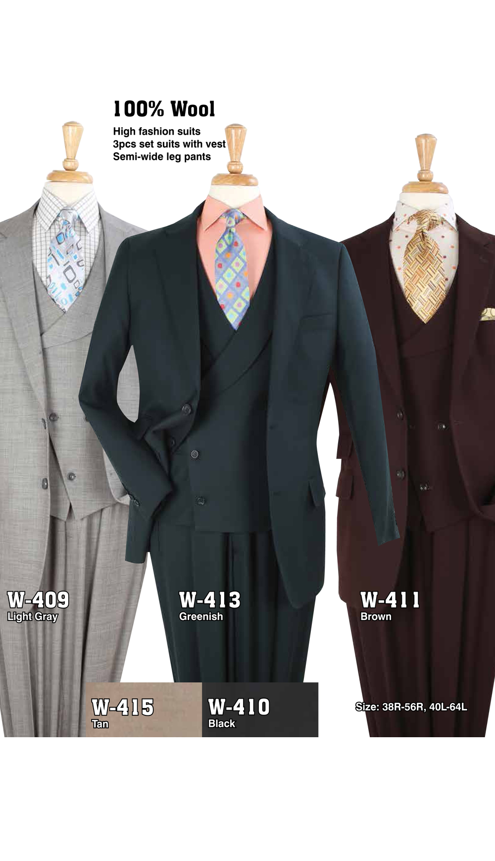 High Fashion Men Suits W-409