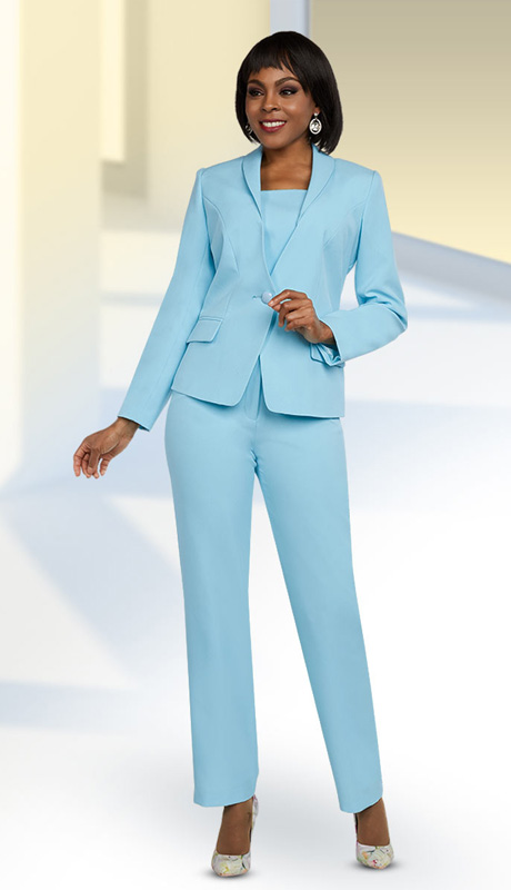 f54ff089fbf Ben Marc Executive 11646 Electric Blue 2pc Pant Suit with 24 Inch ...