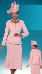 Ben Marc 48121 ( 3pc Knit Fabric Womens Church Skirt Suit With Sweetheart Neckline )