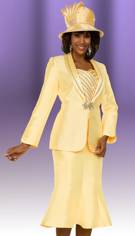 Ben Marc 48147 ( 3pc Silky Twill Fabric Womens Suit Ensemble In A Box Wlth Flared Skirt )