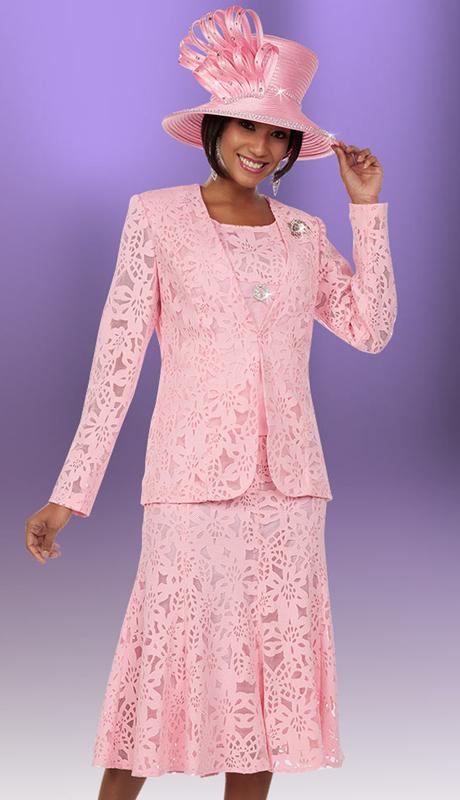 Ben Marc 48148 ( 3pc Pique Fabric Womens Skirt Suit Ensemble In A Box Wlth Cut-Out Design)