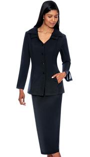G12777-BLK ( 2pc PeachSkin GMI Church And Choir Suit ) <b>( Unlined )</b>