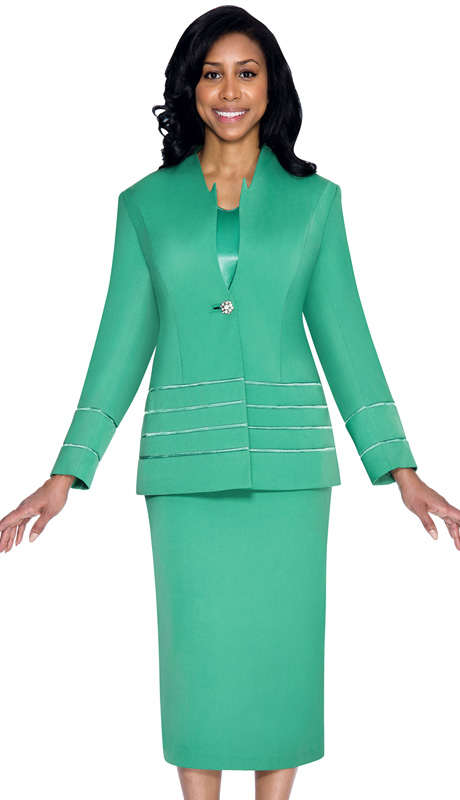G23108-EM ( 3pc PeachSkin GMI Church And Choir Suit ) <b> ( Each Suit Includes Free Pair Of White Gloves )</b>