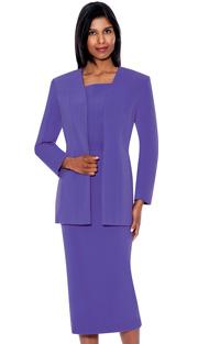 G13270-PE ( 3pc PeachSkin GMI Church And Choir Suit ) <b> ( Each Suit Includes Free Pair Of White Gloves )</b>