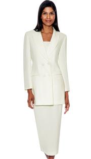 G12269-IV ( 3pc PeachSkin GMI Church And Choir Suit ) <b> ( Each Suit Includes Free Pair Of White Gloves )</b>