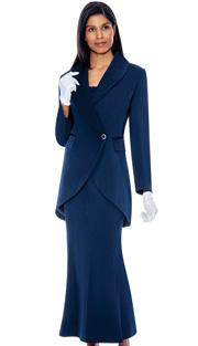 G2876 ( 3pc PeachSkin GMI Church And Choir Suit ) <b> ( Each Suit Includes Free Pair Of White Gloves )</b>