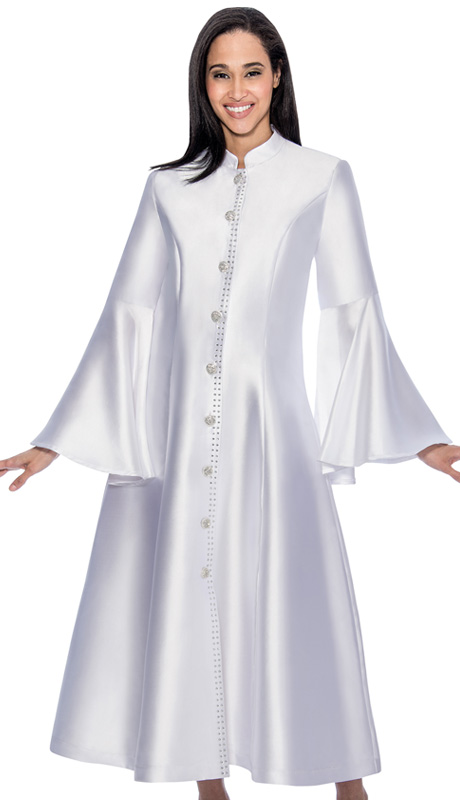 RR9031-WH ( 1pc GMI Church And Choir Robe With Bell Sleeve )
