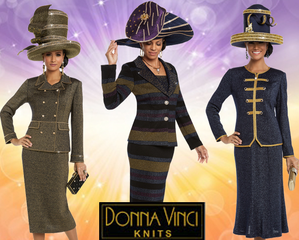 Donna Vinci Knit Church Suits Spring And Summer 2018