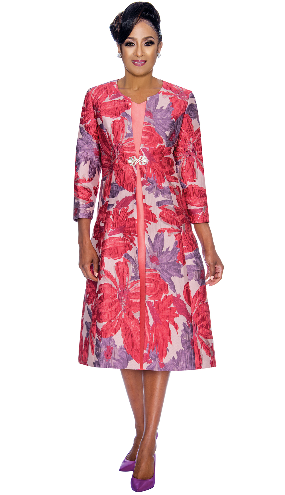 Dorinda Clark-Cole Dress 1322-VIO-IH-CO