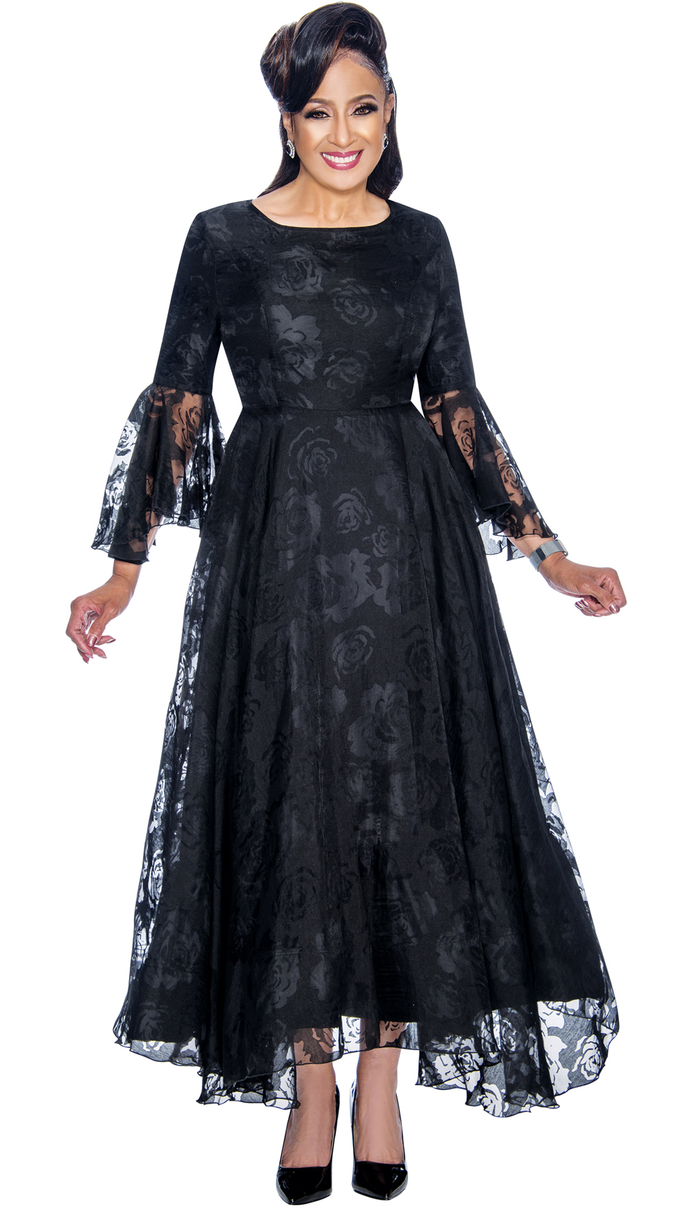 Dorinda Clark-Cole Dress 1901-BLK