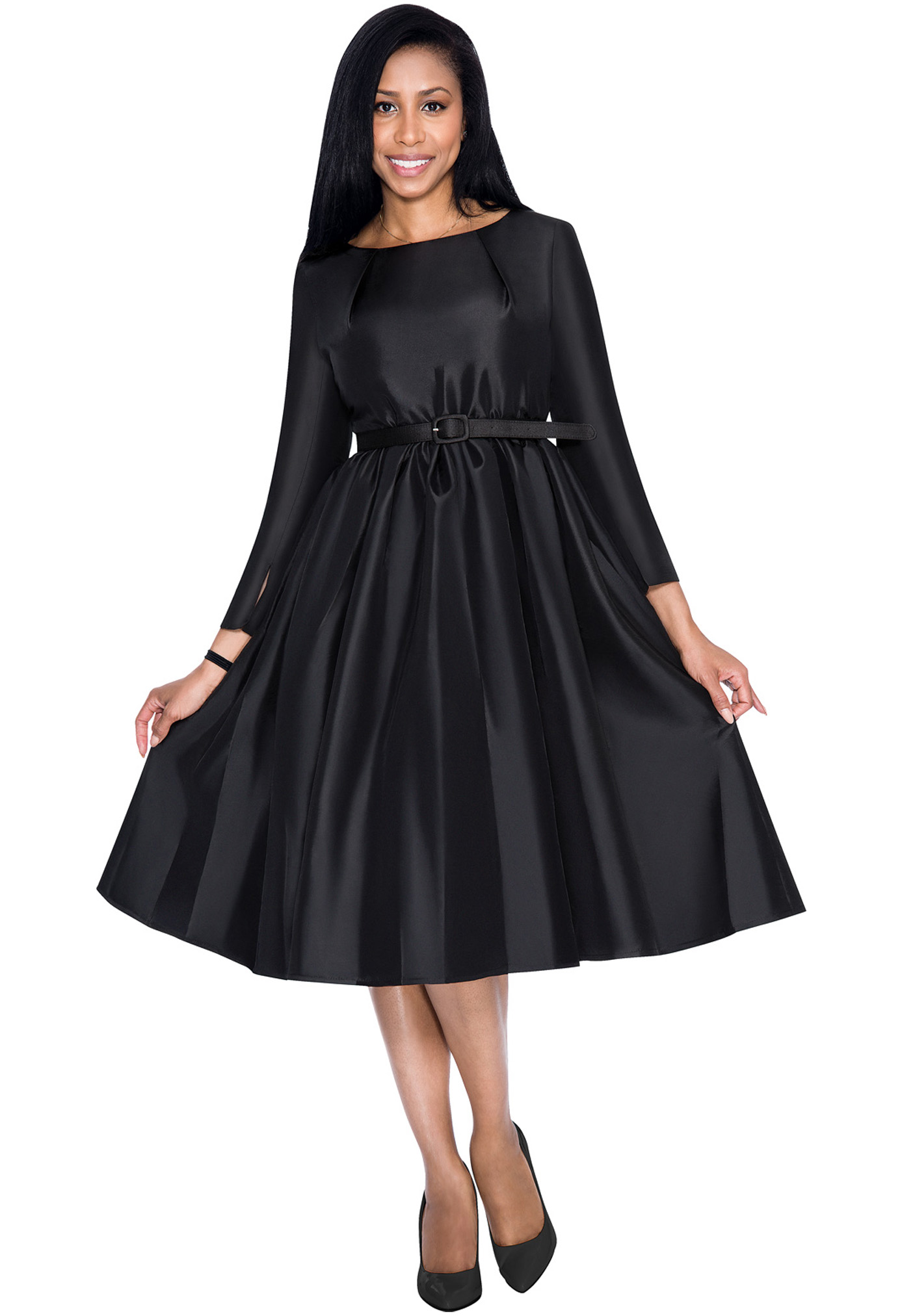Dresses By Nubiano 5871-BLK-WCO