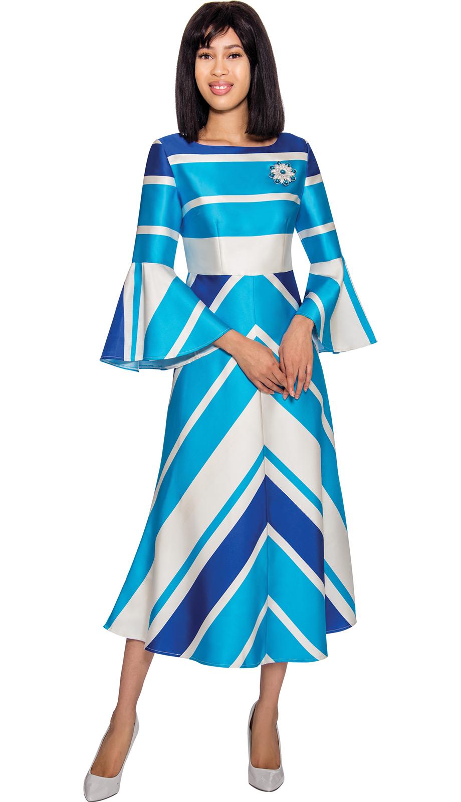 Dresses by Nubiano 3001-BLU