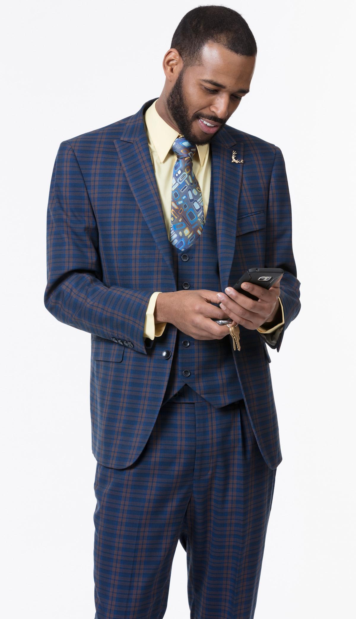 Mens Suit By EJ Samuel M2713