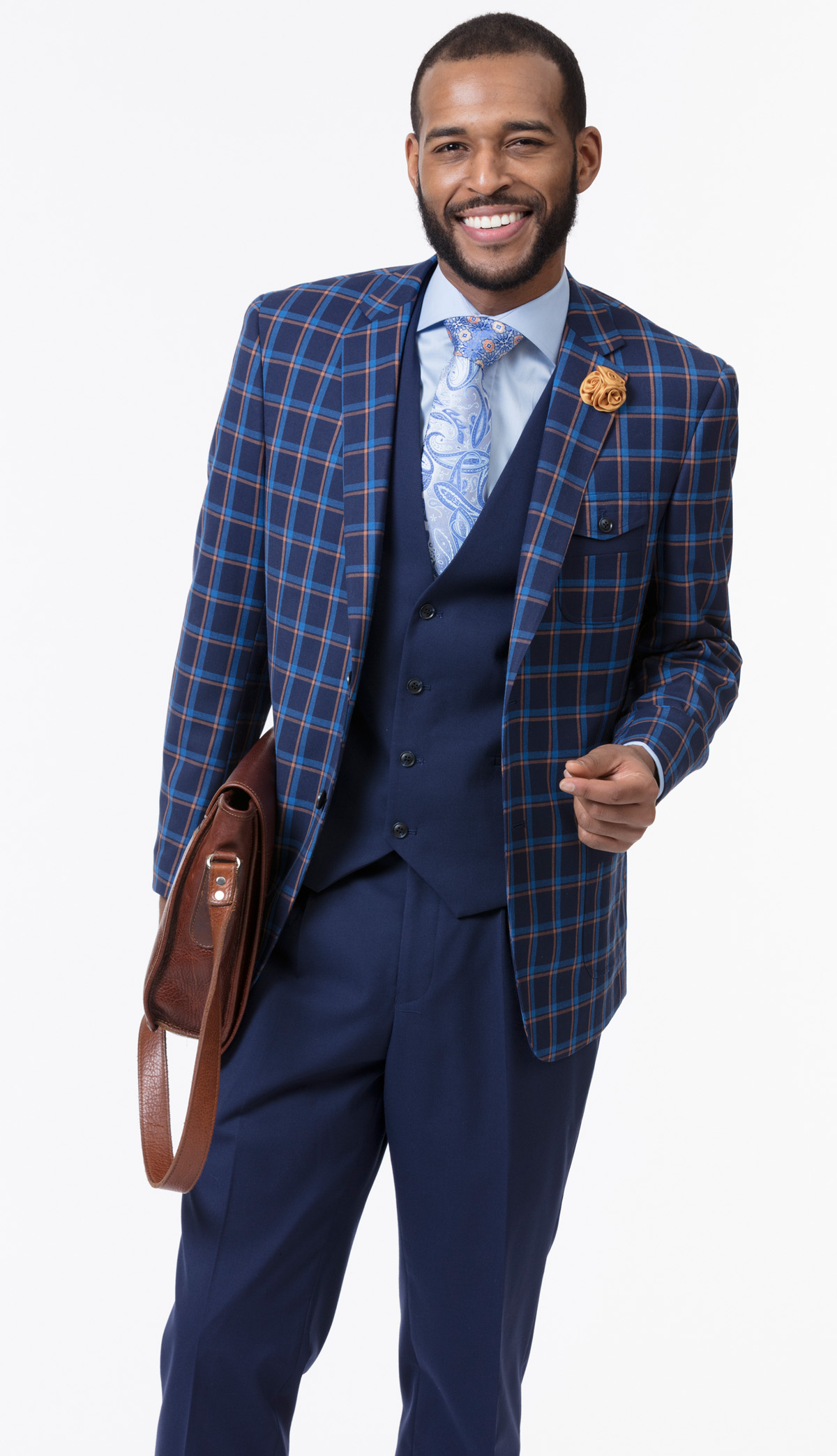 Mens Suit By EJ Samuel M2714-NA